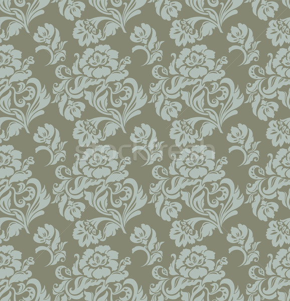 Seamless pattern, ornament floral, curtains, vector Stock photo © Ecelop