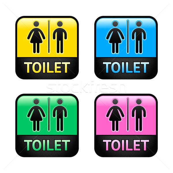 Restroom symbols Stock photo © Ecelop