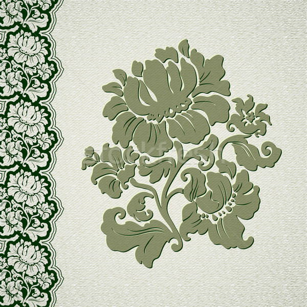 flower and border vintage lace Stock photo © Ecelop