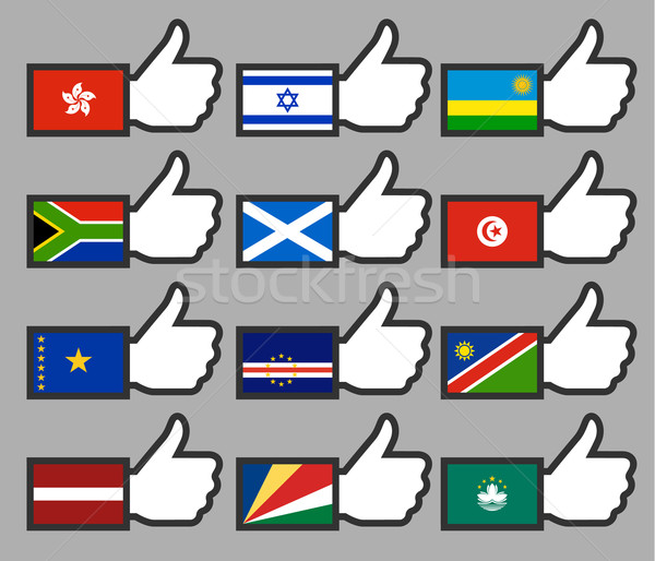 Flags in the Thumbs up-10 Stock photo © Ecelop