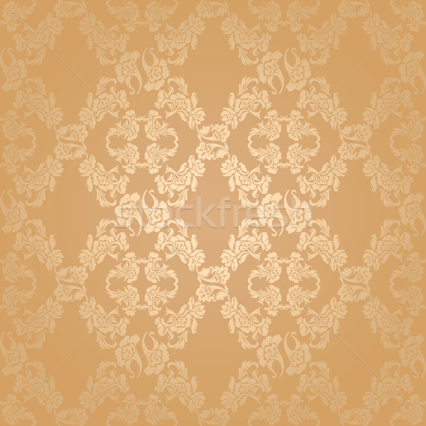 Vector seamless background flowers, floral gold Stock photo © Ecelop