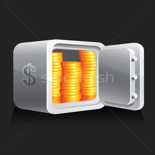 Safe & money symbols Stock photo © Ecelop
