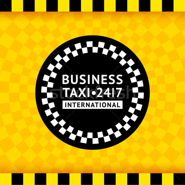 Taxi symbol with checkered background - 19 Stock photo © Ecelop