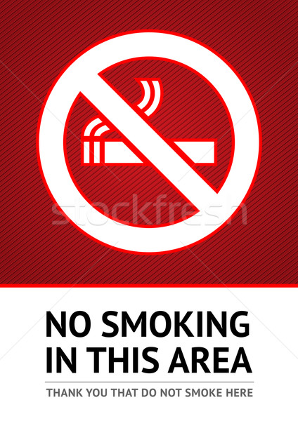 Stock photo: Label No smoking sticker