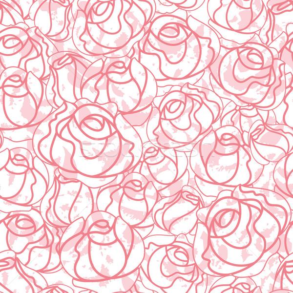 商業照片: 無縫 · 玫瑰 · 模式 · 背景 · 設計元素 · 春天