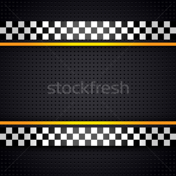 Structured metallic perforated for race sheet template Stock photo © Ecelop