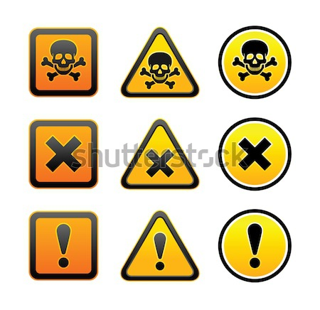 symbols of hazard Stock photo © Ecelop