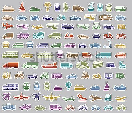 Seamless transports pattern, wallpaper Stock photo © Ecelop