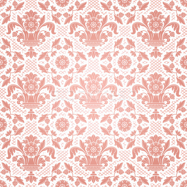 Lace background, pink ornamental flowers Stock photo © Ecelop