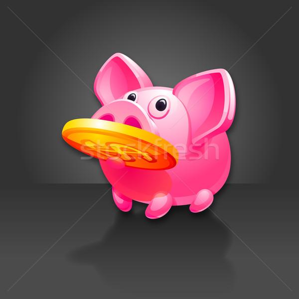 Piggy Bank found Money. Pig vector icon. 10 EPS vector. Stock photo © Ecelop