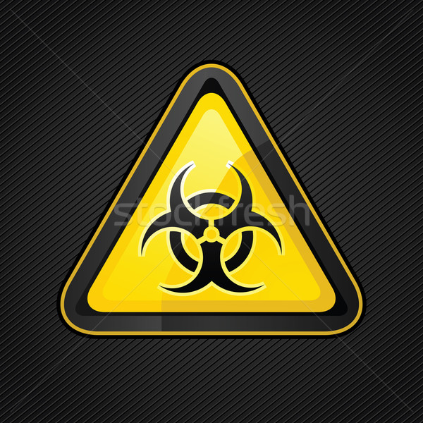 Hazard warning triangle biohazard sign Stock photo © Ecelop