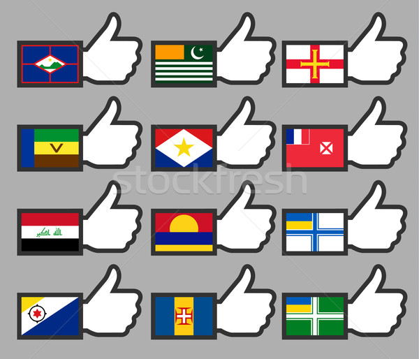 Flags in the Thumbs up-13 Stock photo © Ecelop