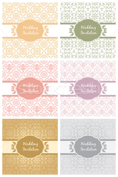 Decorative Pattern and Frame template second set Stock photo © Ecelop