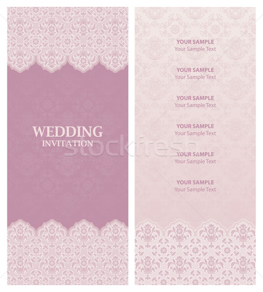 wedding invitation and ornament-flowers background. Stock photo © Ecelop