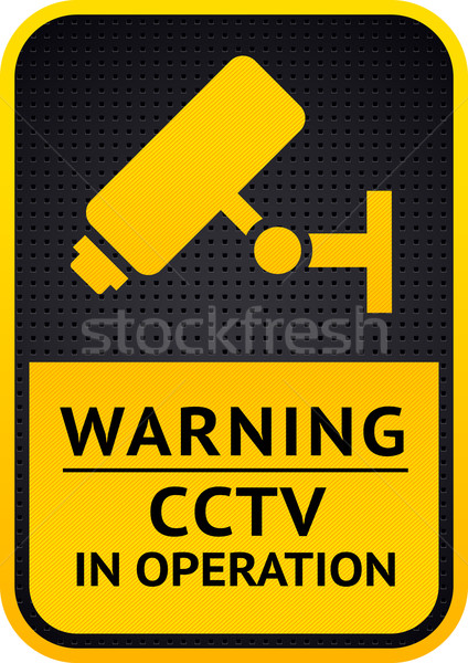 Video surveillance sticker 10eps Stock photo © Ecelop