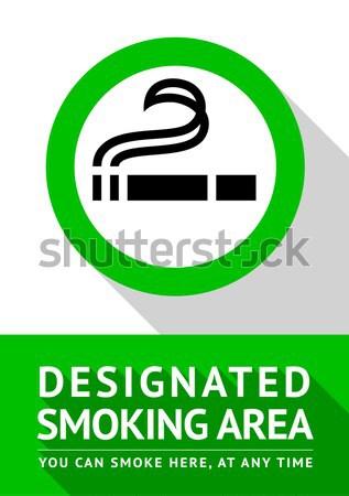 Palenia podpisania zielone biały pokój prawa Zdjęcia stock © Ecelop
