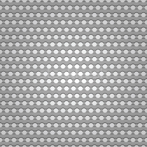 Seamless metal surface, background perforated sheet Stock photo © Ecelop