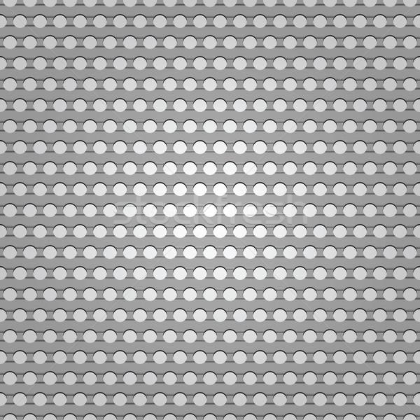 Senza soluzione di continuità superficie metallica foglio ferro audio buco Foto d'archivio © Ecelop