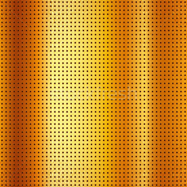 Metallic perforated scratched gold sheet Stock photo © Ecelop