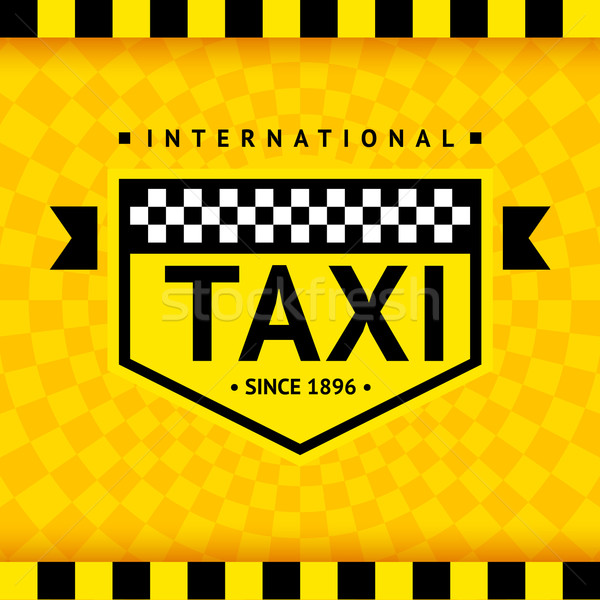 Taxi symbol with checkered background - 08 Stock photo © Ecelop