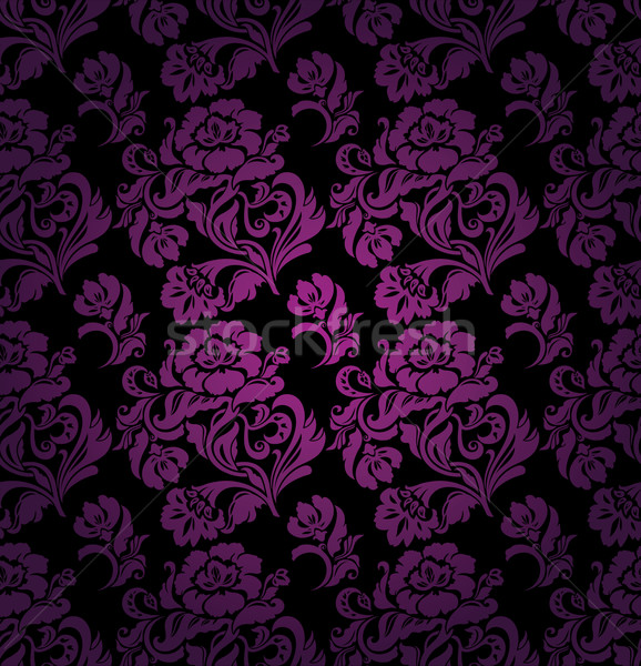Seamless pattern, ornament lilac floral background Stock photo © Ecelop