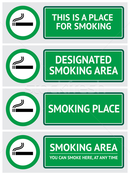 Labels set smoking place stickers Stock photo © Ecelop