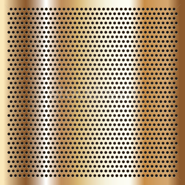Gold background perforated sheet Stock photo © Ecelop