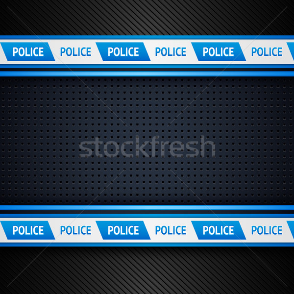 Metallic perforated sheet, police background Stock photo © Ecelop