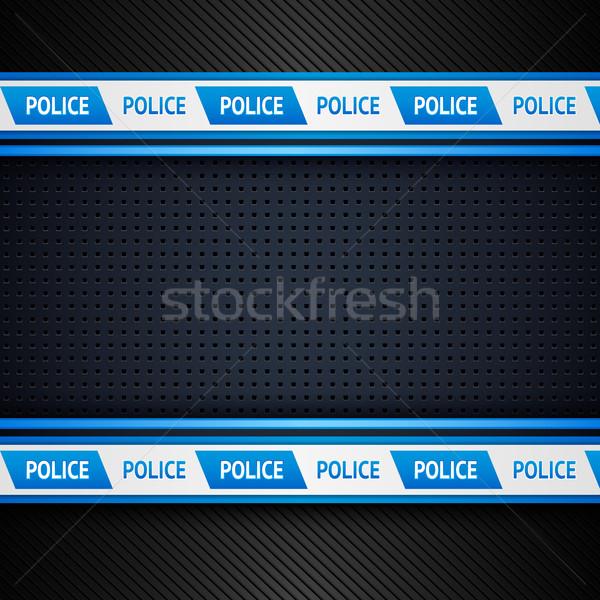 Metalen vel politie 10 eps abstract Stockfoto © Ecelop