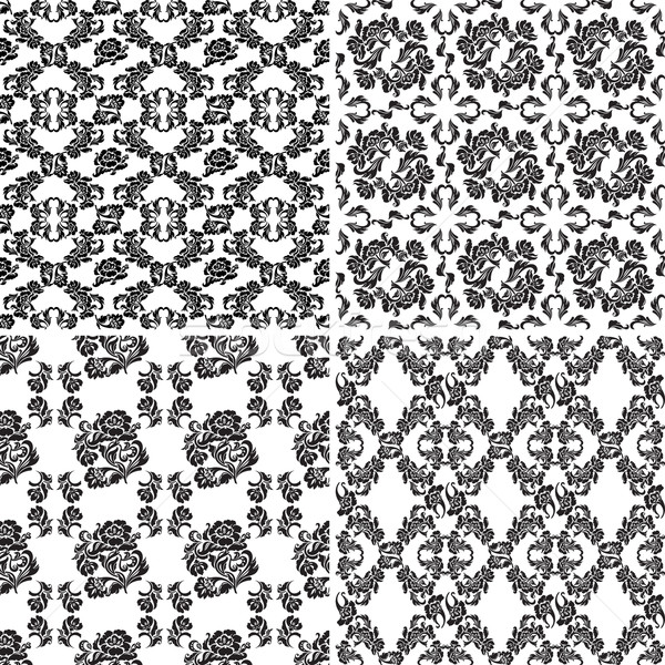 Floral pattern, seamless background flowers. Set Stock photo © Ecelop