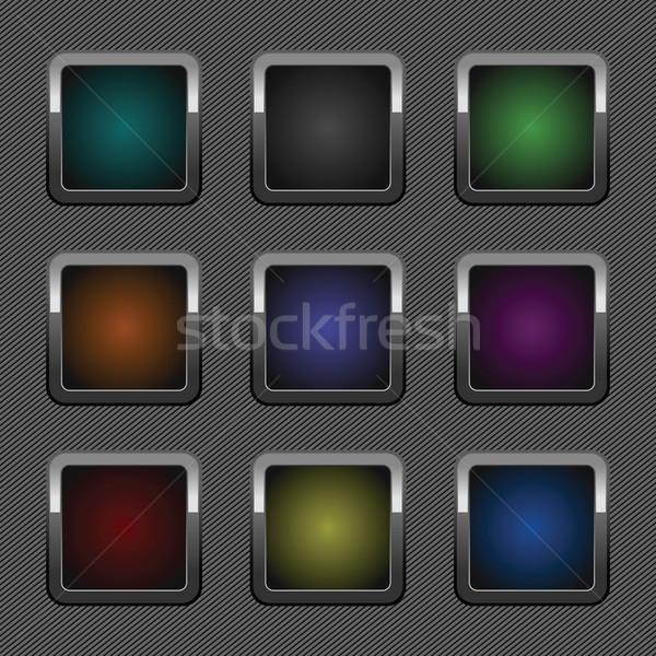 セット クロム 色 webボタン 金属 パターン ストックフォト © Ecelop