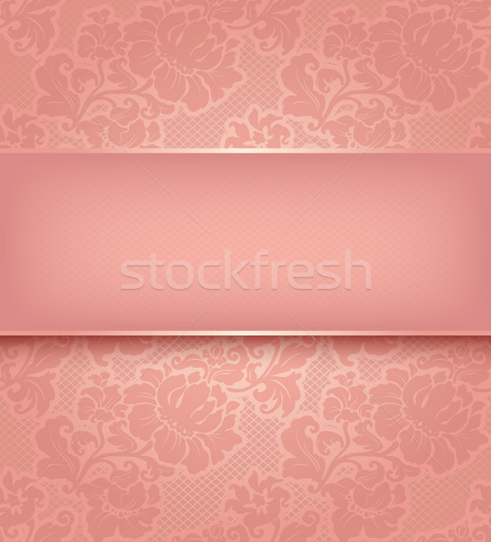 Lace background, ornamental pink flowers wallpaper. Stock photo © Ecelop
