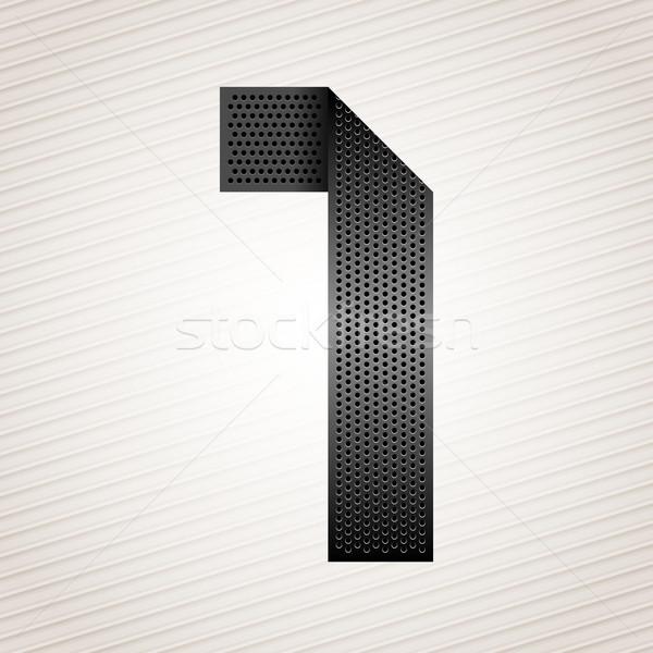 Nombre métal ruban une rayé résumé Photo stock © Ecelop