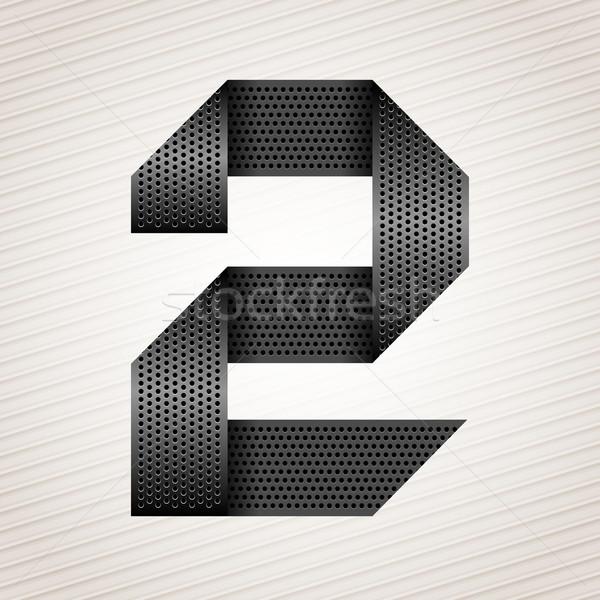 番号 金属 リボン 2 縞模様の 抽象的な ストックフォト © Ecelop