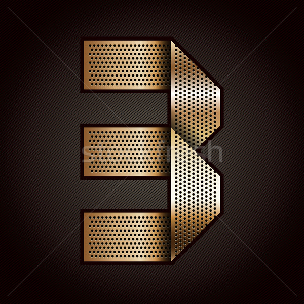 Number metal gold ribbon - 3 - three Stock photo © Ecelop