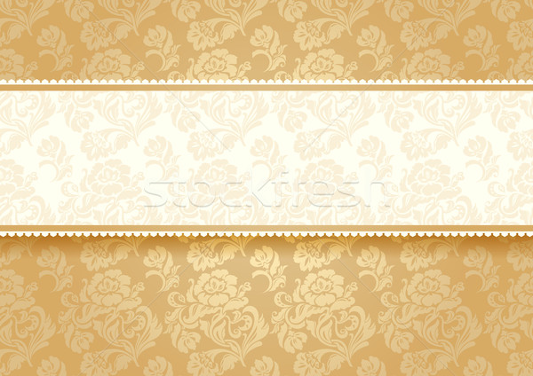 Or fleur texture mariage mode design Photo stock © Ecelop