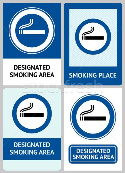 Label set Smoking area Stock photo © Ecelop