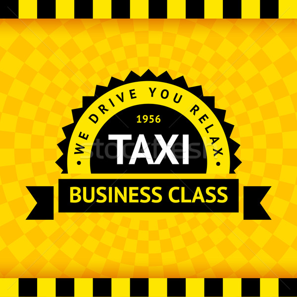 Taxi symbol with checkered background - 07 Stock photo © Ecelop