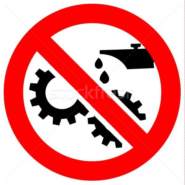 Verbod Rood teken zwarte verboden symbool Stockfoto © Ecelop