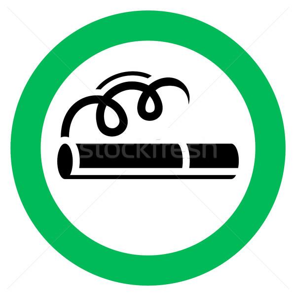 ストックフォト: 喫煙 · にログイン · 緑 · 白 · ルーム · 法