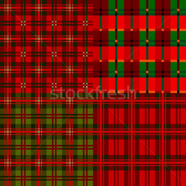 Ingesteld patronen kunst groene weefsel Stockfoto © Ecelop
