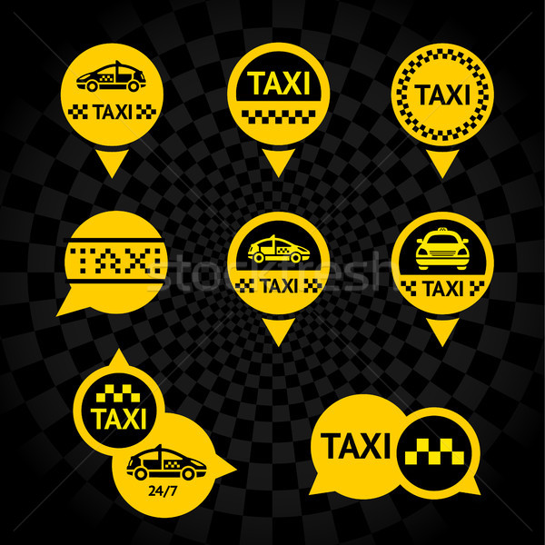 Taxi - Emblems yellow Stock photo © Ecelop