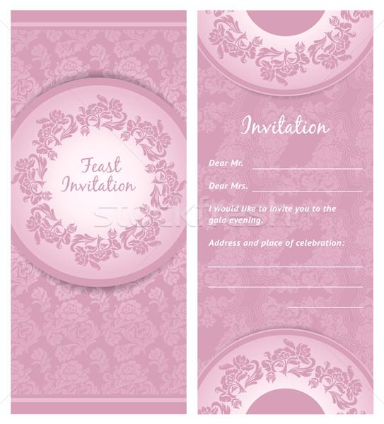 Invitation background, wedding greeting card Stock photo © Ecelop