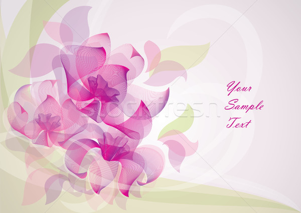 flower background vector 10 EPS Stock photo © Ecelop