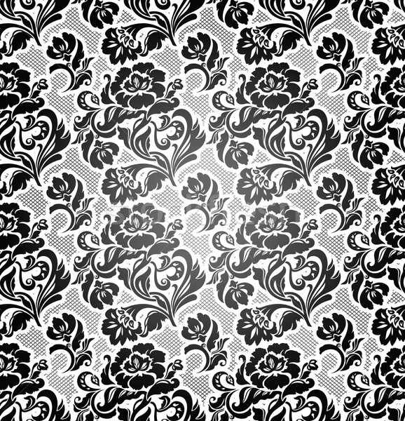 Lace background, ornamental flowers Stock photo © Ecelop