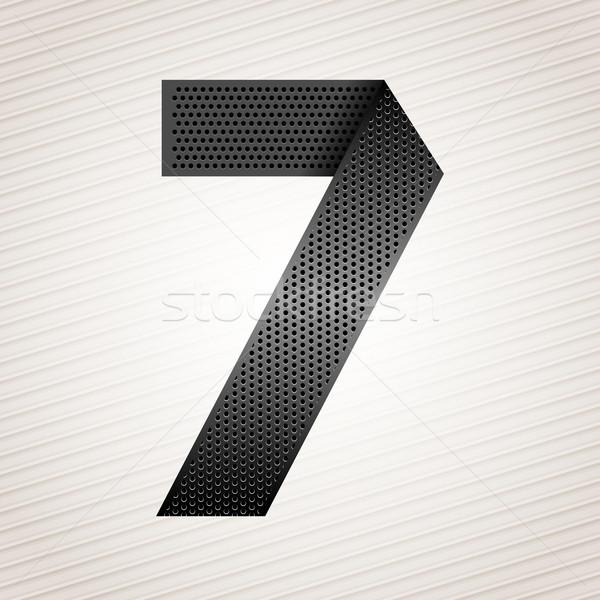 Nombre métal ruban sept rayé résumé Photo stock © Ecelop
