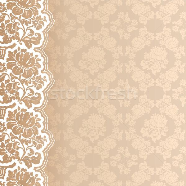 Blume Spitze Textur Mode Schönheit Blätter Stock foto © Ecelop