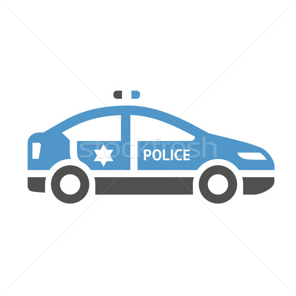 Städtischen Transport Symbol Polizei Auto grau Stock foto © Ecelop