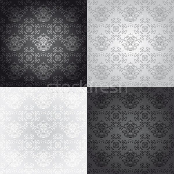 Seamless wallpaper pattern, floral Stock photo © Ecelop