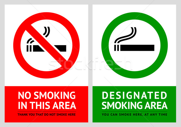 No smoking and Smoking area labels - Set 13 Stock photo © Ecelop